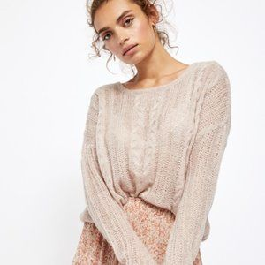 NWT Free People Angel Soft Pullover - Neutral